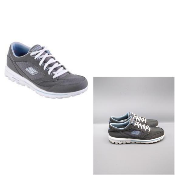 skechers go walk lace up shoes